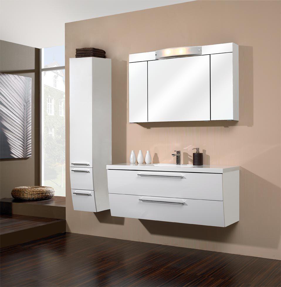 PELIPAL Bani Weiß Hochglanz Bathroom vanity