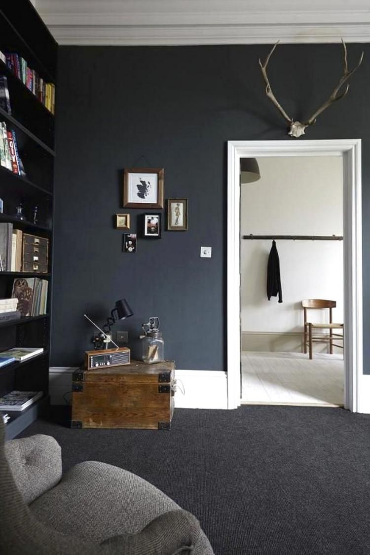 Wonderful Black Wall For Kids Room Design Ideas Black Carpet