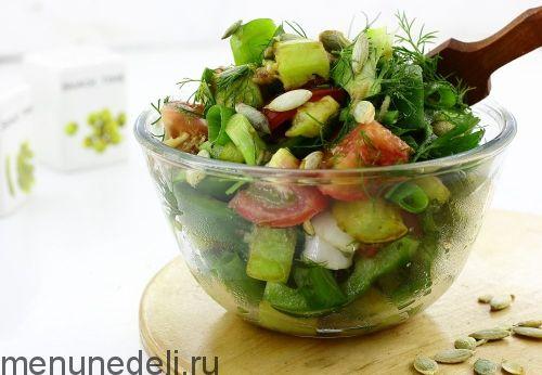 Салат с жареными кабачками   Рецепт   Жареные кабачки ...