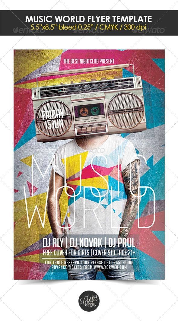 Music World Flyer Template Flyer Template Template And Print - Buy flyer templates