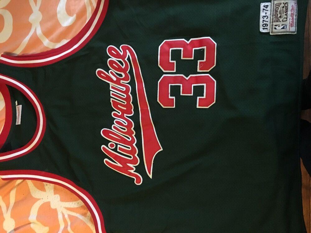 release date: 5989e 8221b Vintage Mitchell & Ness Kareem Abdul-Jabbar Milwaukee Jersey ...