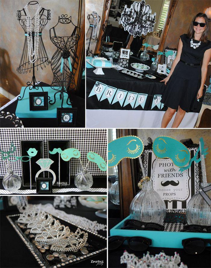 Breakfast At Tiffanys Themed Bridal Shower