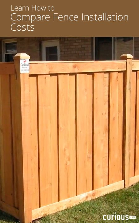 Don T Be Fenced In By Contractor Costs This Lesson Breaks Down The Costs For Diy Fencing Projects Including Fence Installation Cost Diy Home Repair Diy Fence