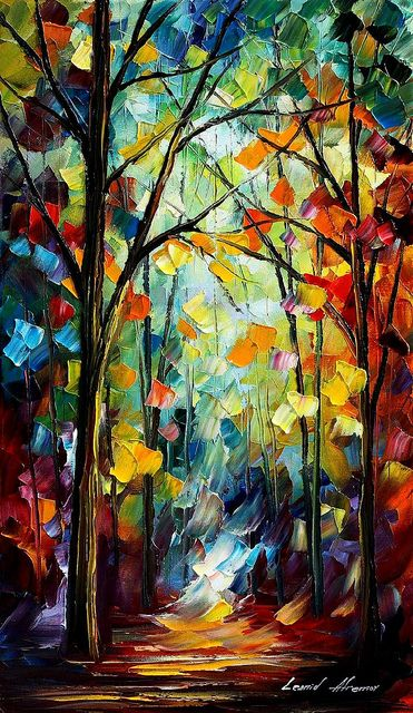 4 Forest Path Oil Painting By Leonid Afremov Art Fine Art