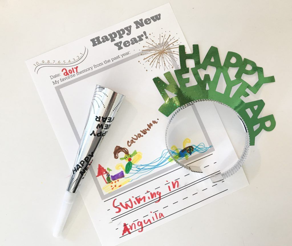 New Year S Eve Activity For Kids Free Printable Memory
