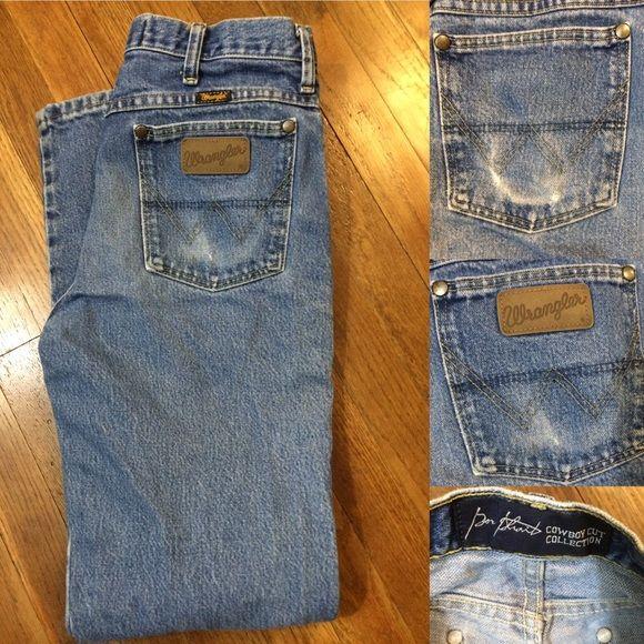 c9f11542726 Wrangler George Strait Cowboy Cut Jeans 30x32 mens Some wear in back ...