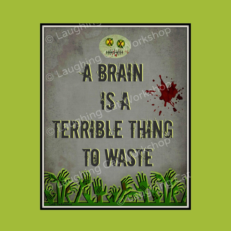 Funny Zombie Art Print Back To School Education Classroom Etsy Zombie Humor Zombie Art Zombie [ 1500 x 1500 Pixel ]