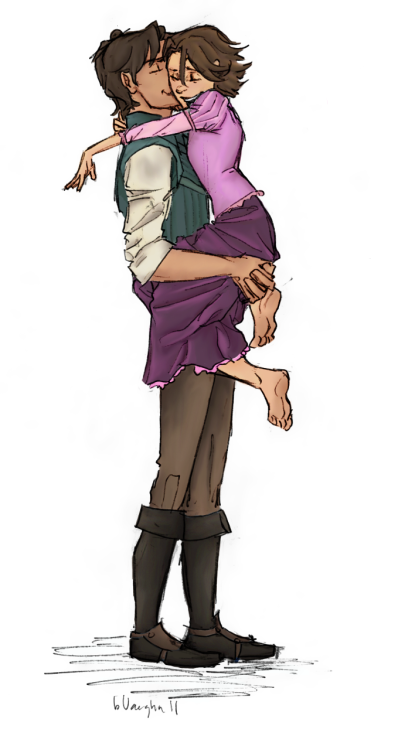 tangledartistry:From Burdge's Tumblr: Rapunzel and Eugene by youowemeasoda