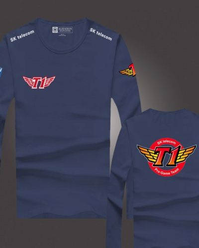 a4ee7161a LOL S5 team SKT t1 long sleeve t shirt cotton | LOL Warband t shirt ...