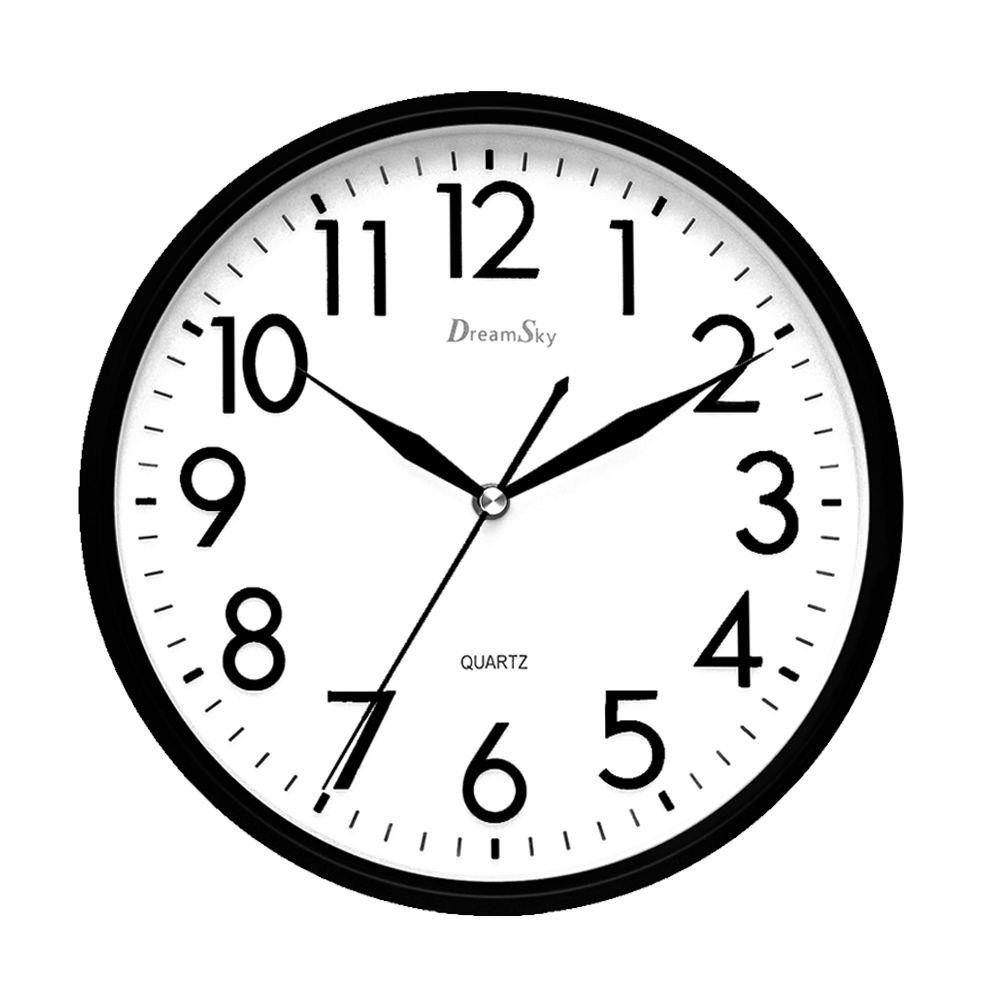 Dreamsky 10 Inches Silent Non Ticking Quartz Wall Clock Decorative Indoor Kitchen Clock 3d Numbers Display Battery Operated W Wall Clock Clock Clock For Kids