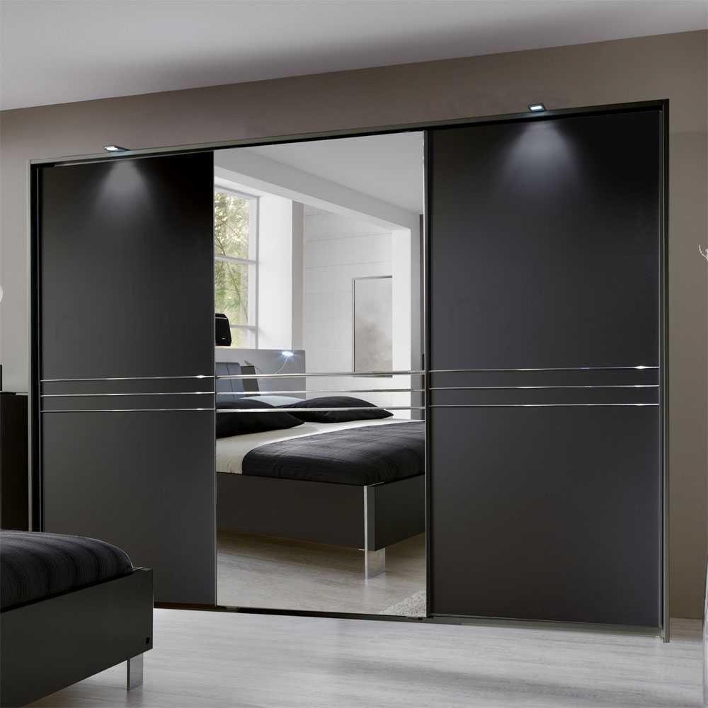 Marvelous Schlafzimmer Schrank Schwarz #4: Schlafzimmerschrank Mit Schiebetüren Schwarz Jetzt Bestellen Unter: ...