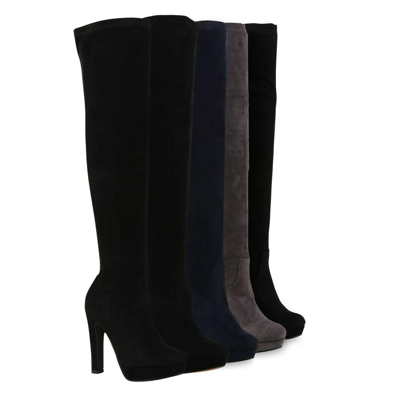 Stiefel Langschaft Elegante Damen Heels High Overknees mnvwN08