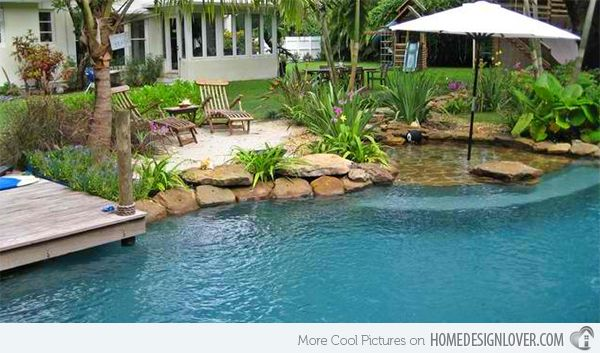 15 relaxing and dramatic tropical pool designs home design lover - Lagoon Swimming Pool Designs
