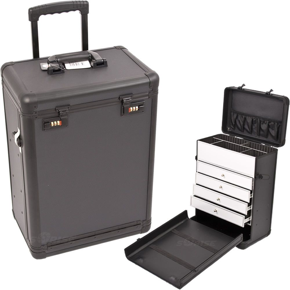Makeup Storage Box Train Make Up Cosmetic Luggage Organizer Rolling Beauty Case Rolling Makeup Case Makeup Storage Box Makeup Case