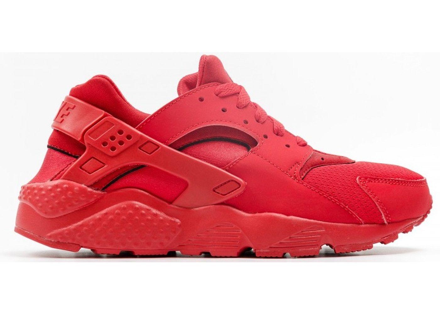 Nike Air Huarache Triple Red (GS) in 2020 | Huaraches, Air ...