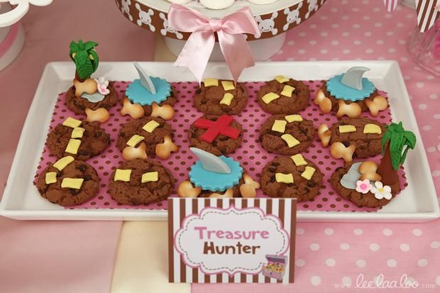 Hostess with the Mostess® - Pirate Birthday Party // Pirate Girl Pink Brown