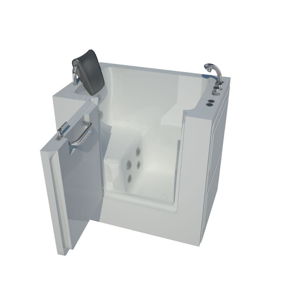 3 Feet 4-Inch Walk-In Whirlpool Bathtub in White #WhirlpoolBathtub ...