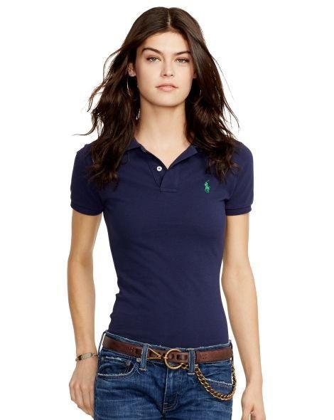 Polo Skinny Women's Lauren Shirt 2019Wardrobe Fit Ralph In Y7fgv6Iby