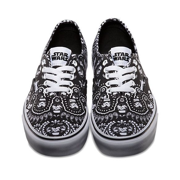 f919f590eb Vans x Stars Collab is available in stores and online now! Vans Star Wars  Authentic - Stormtrooper Bandana