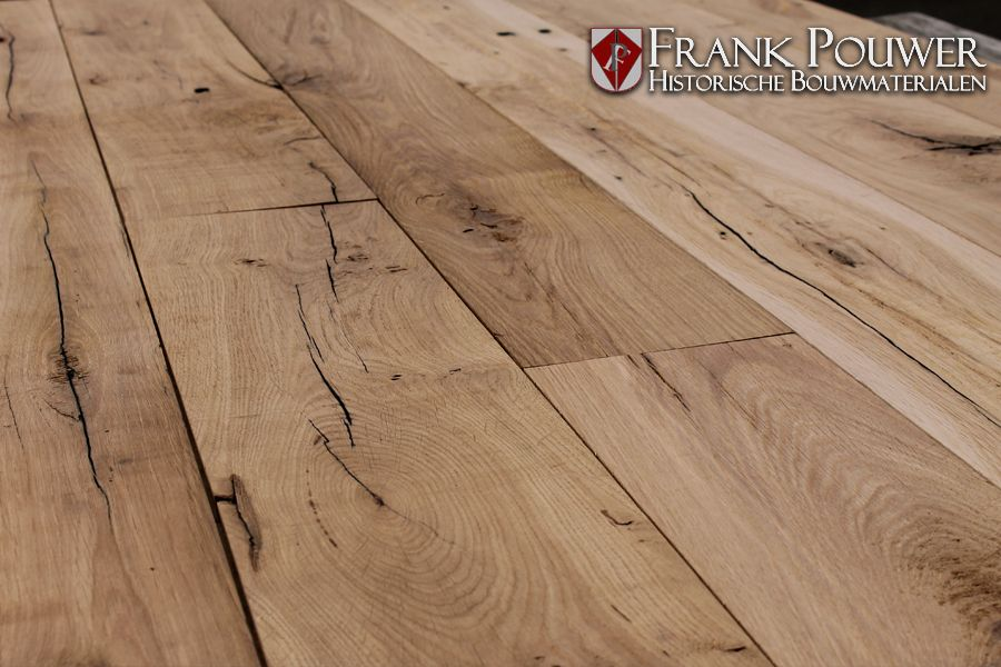 Geschaafde frans eiken wagonplankenvloer 木 材质