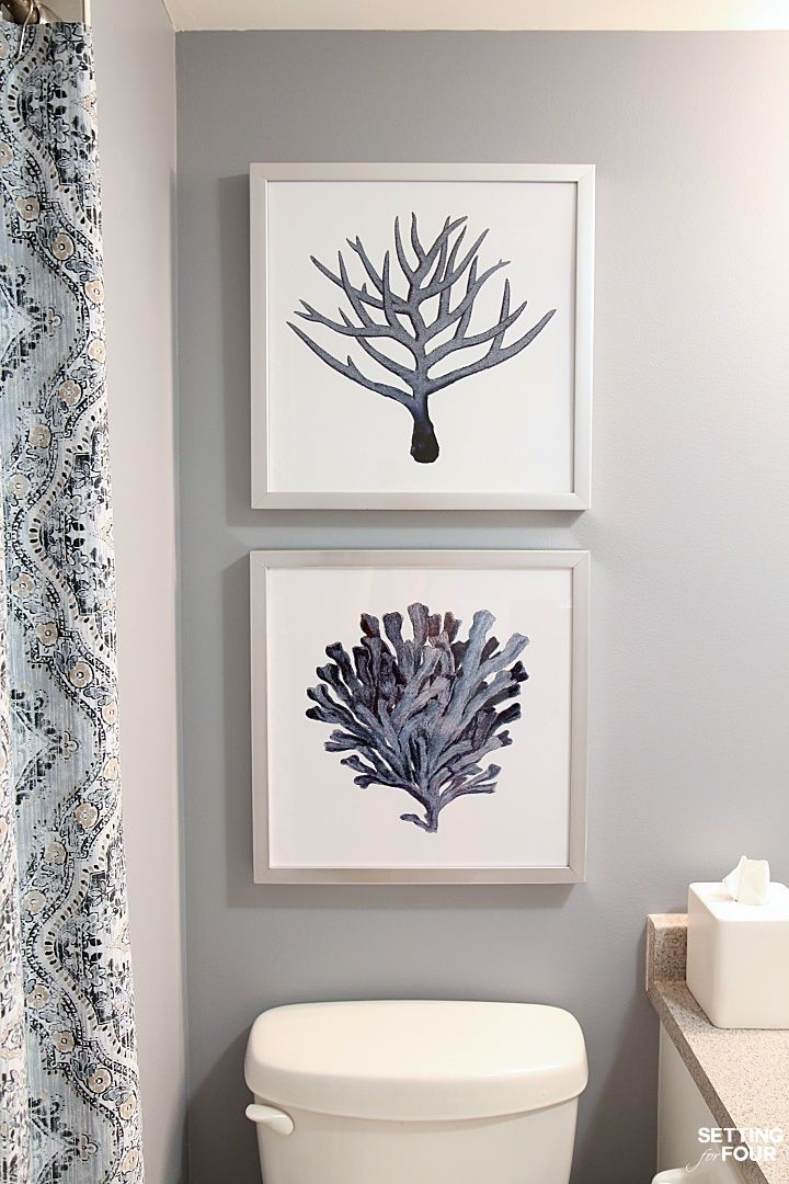 How To Hang Pictures Above The Toilet At The Right Height Even