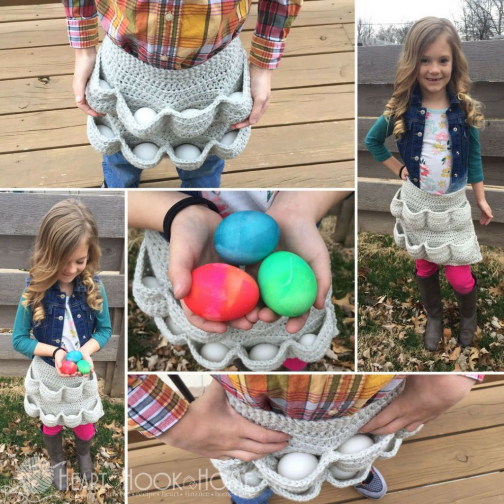 This Crocheted Egg Apron is the Accessory We Didn\'t Know We Needed
