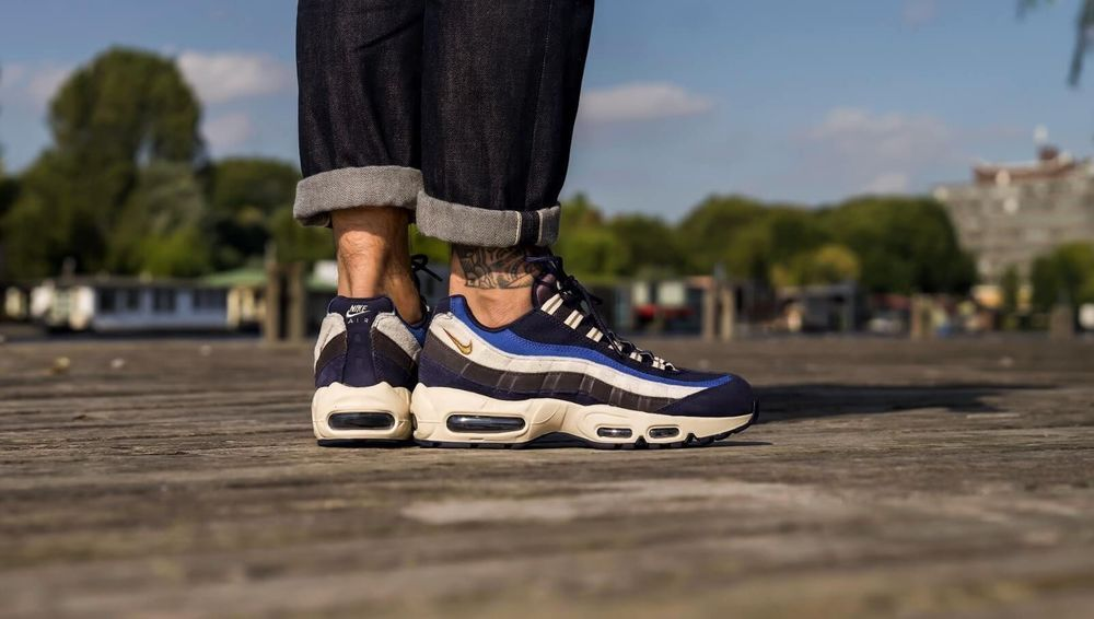 new concept d8c2e 2e259 Nike Air Max 95 PRM | Blue/Green/Monarch/Cream | Mens ...