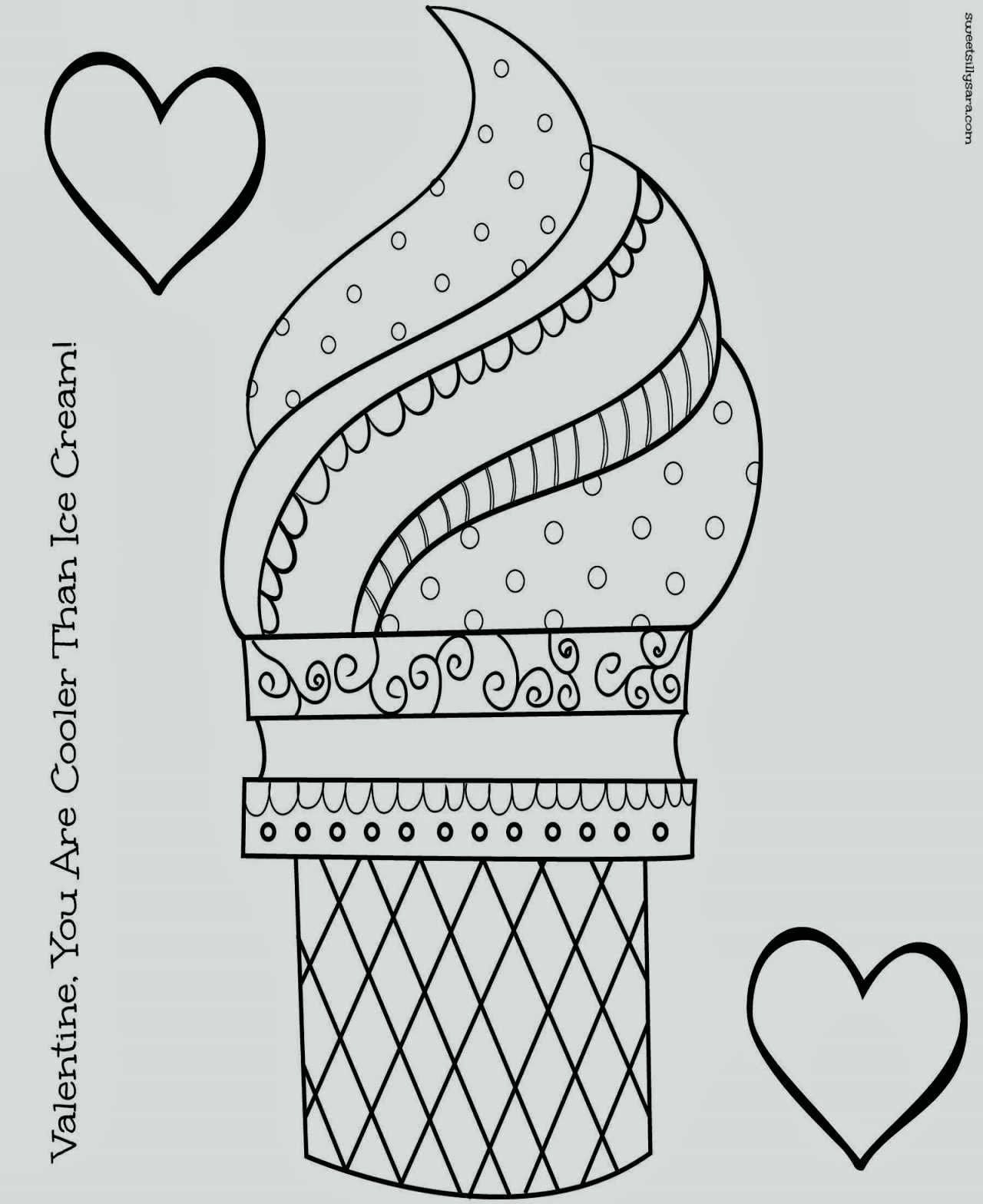 Ice Cream Scoop Coloring Pages