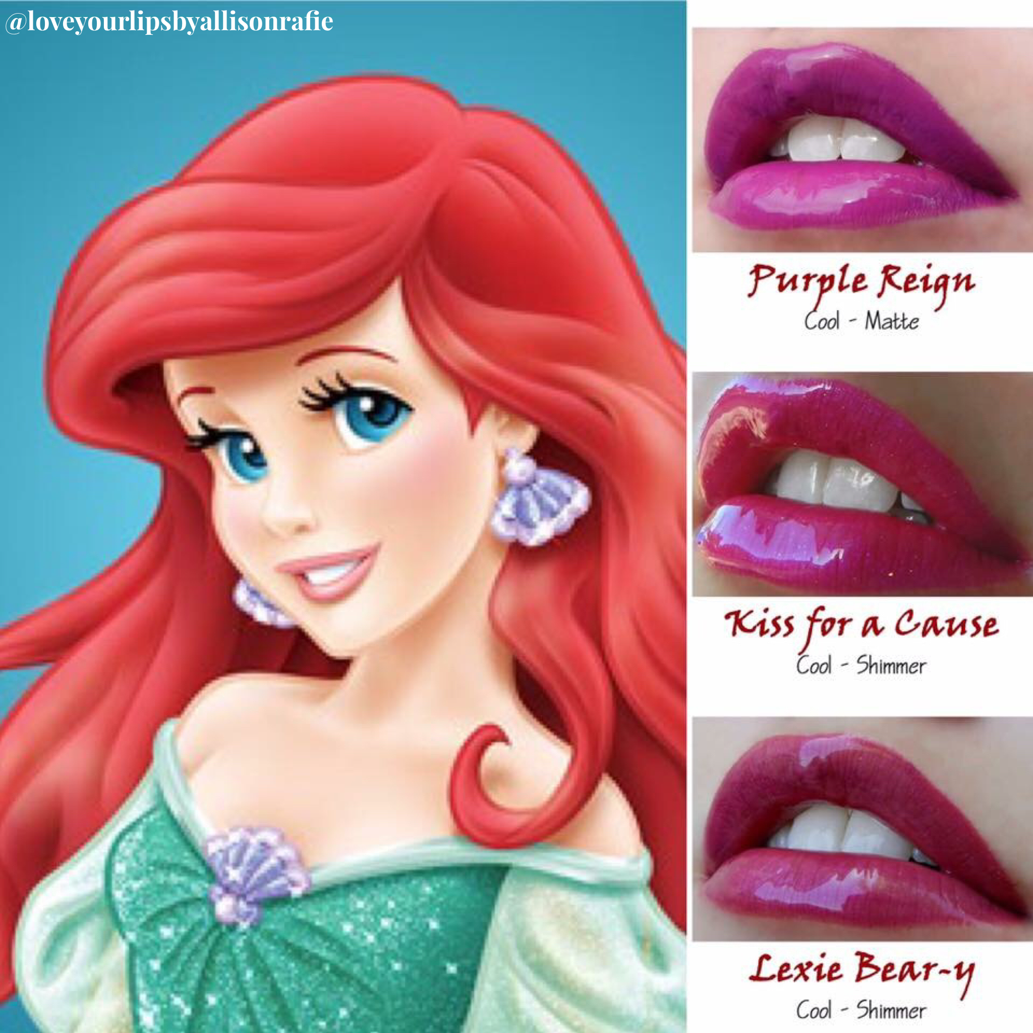 Ariel The Little Mermaid Lipsense Love Your Lips By Allison Rafie Distributer 328364 Http Www F Disney Prinzessin Ariel Die Kleine Meerjungfrau Disney Kunst