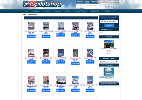 flygcforum com ✈ FlightSim Pilot Shop ✈ Just Planes DVDs