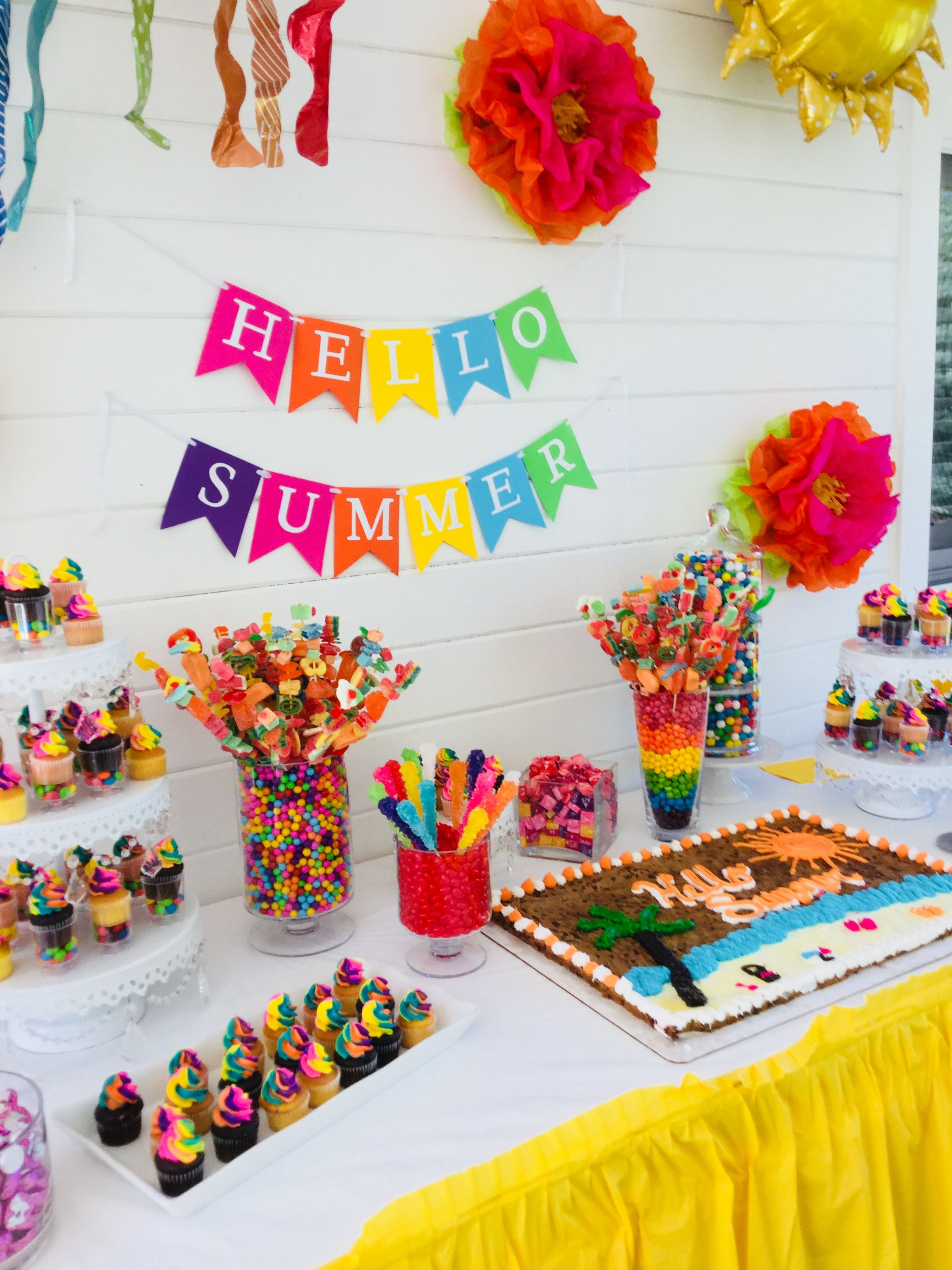 Summer Candy Party Dessert Table
