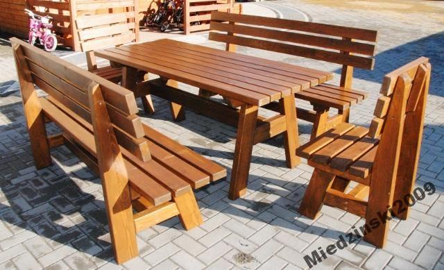 Meble Tarasoweogrodowe Drewniane Komplety 5049631643