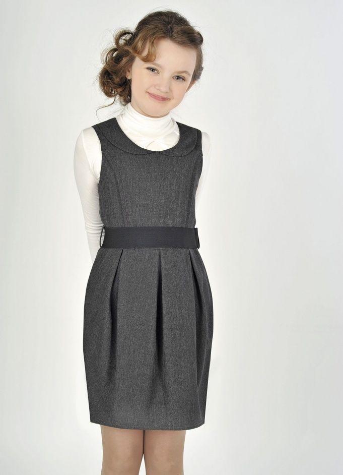 Стильное школьное платье для девушек