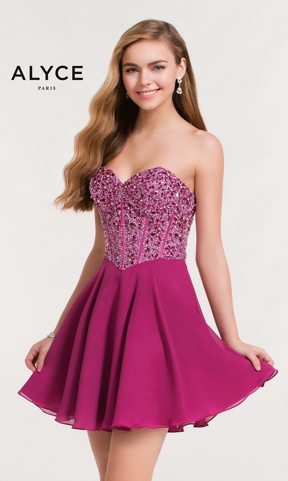 Short Evening Dresses Homecoming Dresses by ALYCE PARIS<BR>aay3716 ...