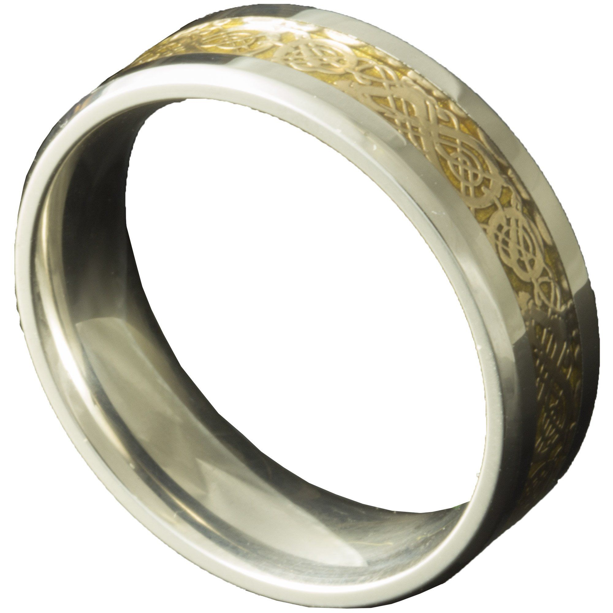 Stainless Steel Celtic His and Her 8mm Wedding Rings mens womens