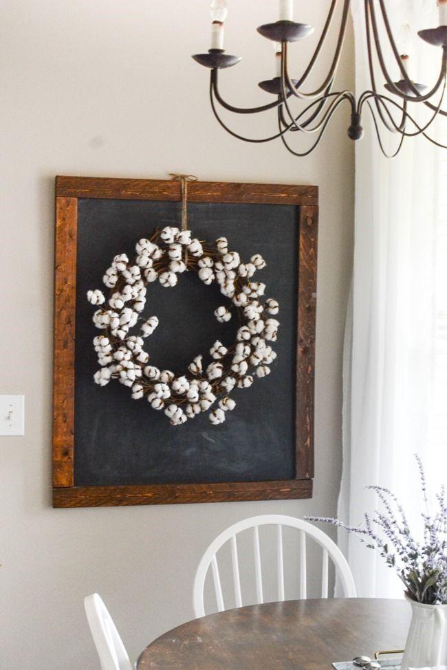 Diy Cotton Wreath 11 Made From Hobby Lobby Cotton Boll Garland Cotton Wreath Decor Cotton Wreath Cotton Decor