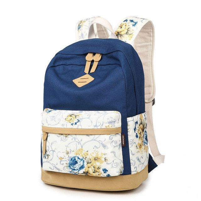 ae33fab5f9 Stylish Women Flower printing backpacks Hot sale schoolbags for teenager  girls large capacity double shoulder knapsack bookbag