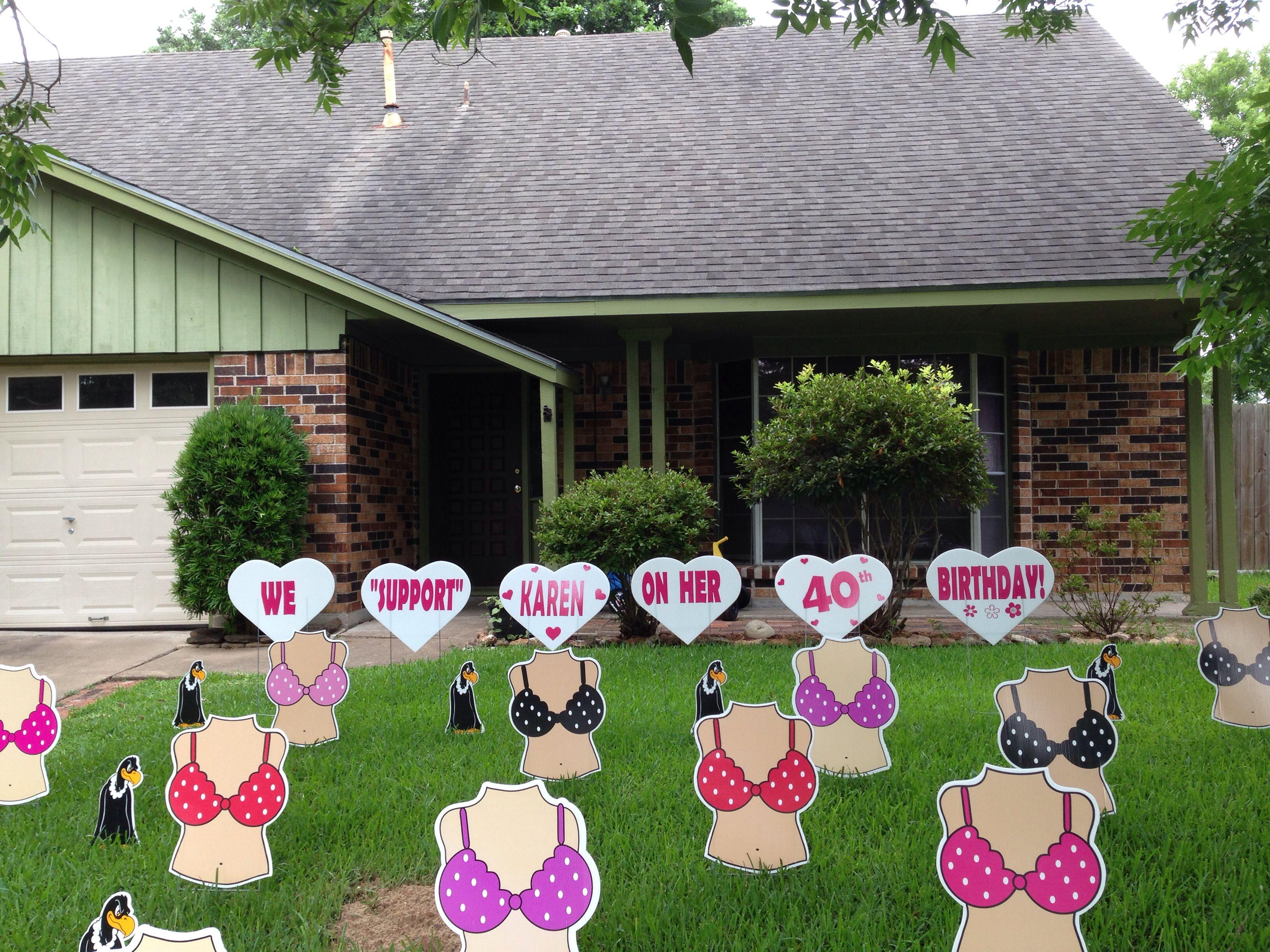 Tatas Buzzards Outdoor Birthday Decorations from Flamingos 2 Go