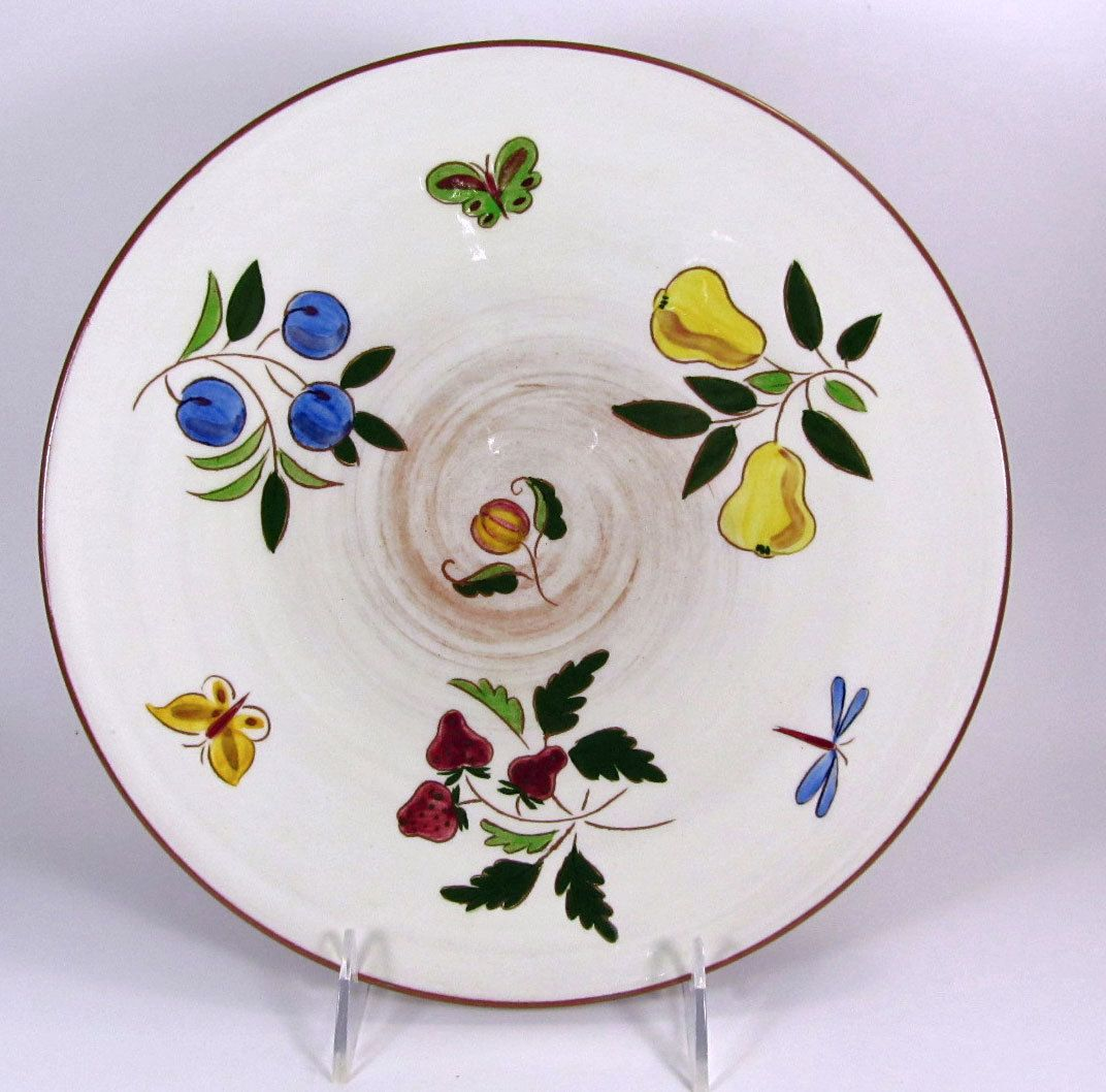 Stangl Pottery Fruit and Butterflies Dinner Plate Circa 1951. Offered by 2kVintageShop on Etsy & Stangl Fruit and Butterflies Dinner Plate Stangl Pottery Vintage ...