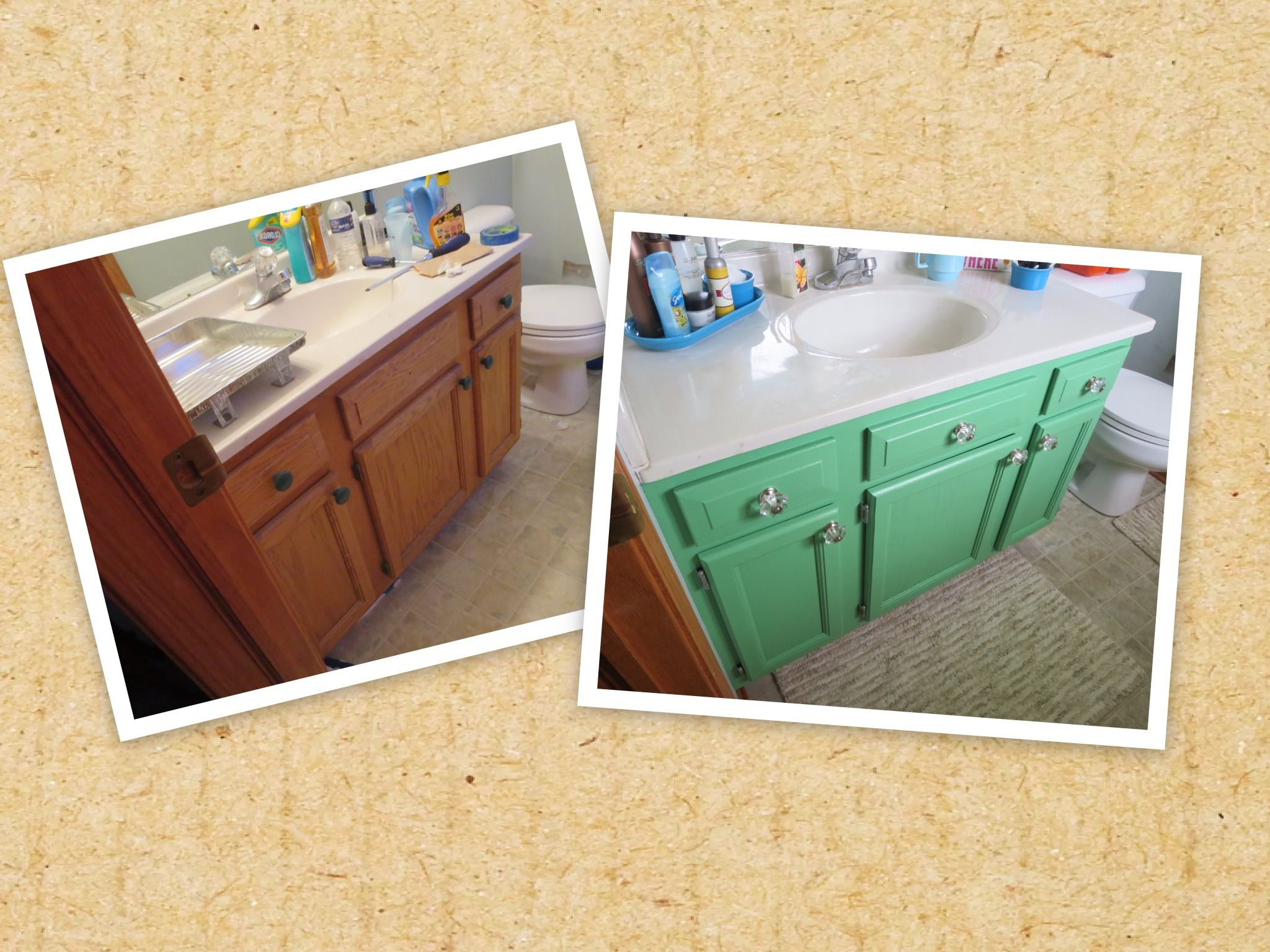 Builder Grade Oak Cabinet Painted In Benjamin Moore Aurora Borealis And Sealed With Gene Trendy Bathroom Tiles Best Bathroom Paint Colors Bathroom Paint Colors