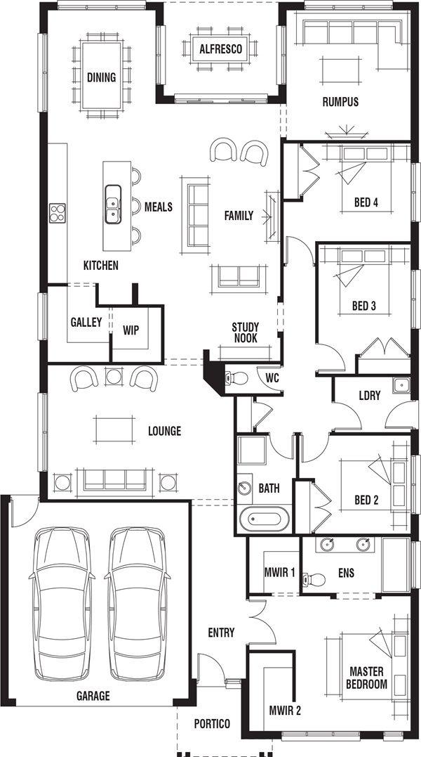 Porter Davis Vancouver 4 Bedroom Single Storey House
