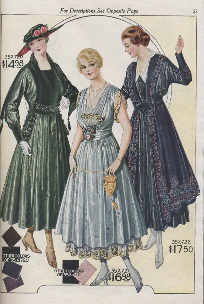 Smithsonian Insution Libraries Detail Of Women S Dresses Image No Sil 038 83 07 From Bellas Hess Co Fall And Winter Catalogue 74 1916 1917