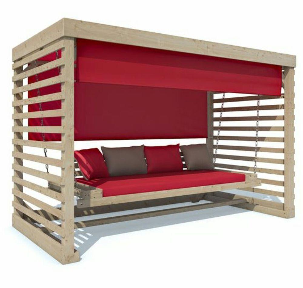 Details zu Hollywoodschaukel aus Holz Gartenmöbel Gartenbank NEU ...