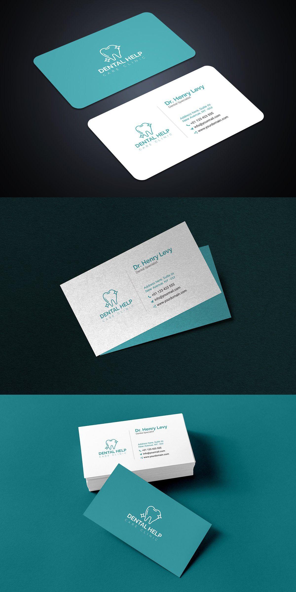 Dentist Business Card Templates Dental Business Cards Doctor Business Cards Business Card Design Minimal