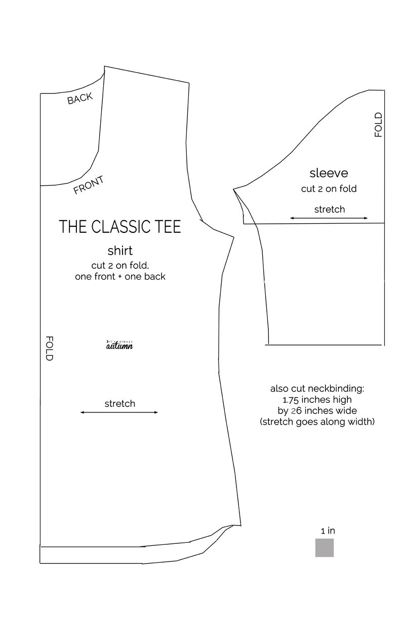 the classic tee | Costura, Patrones y Molde