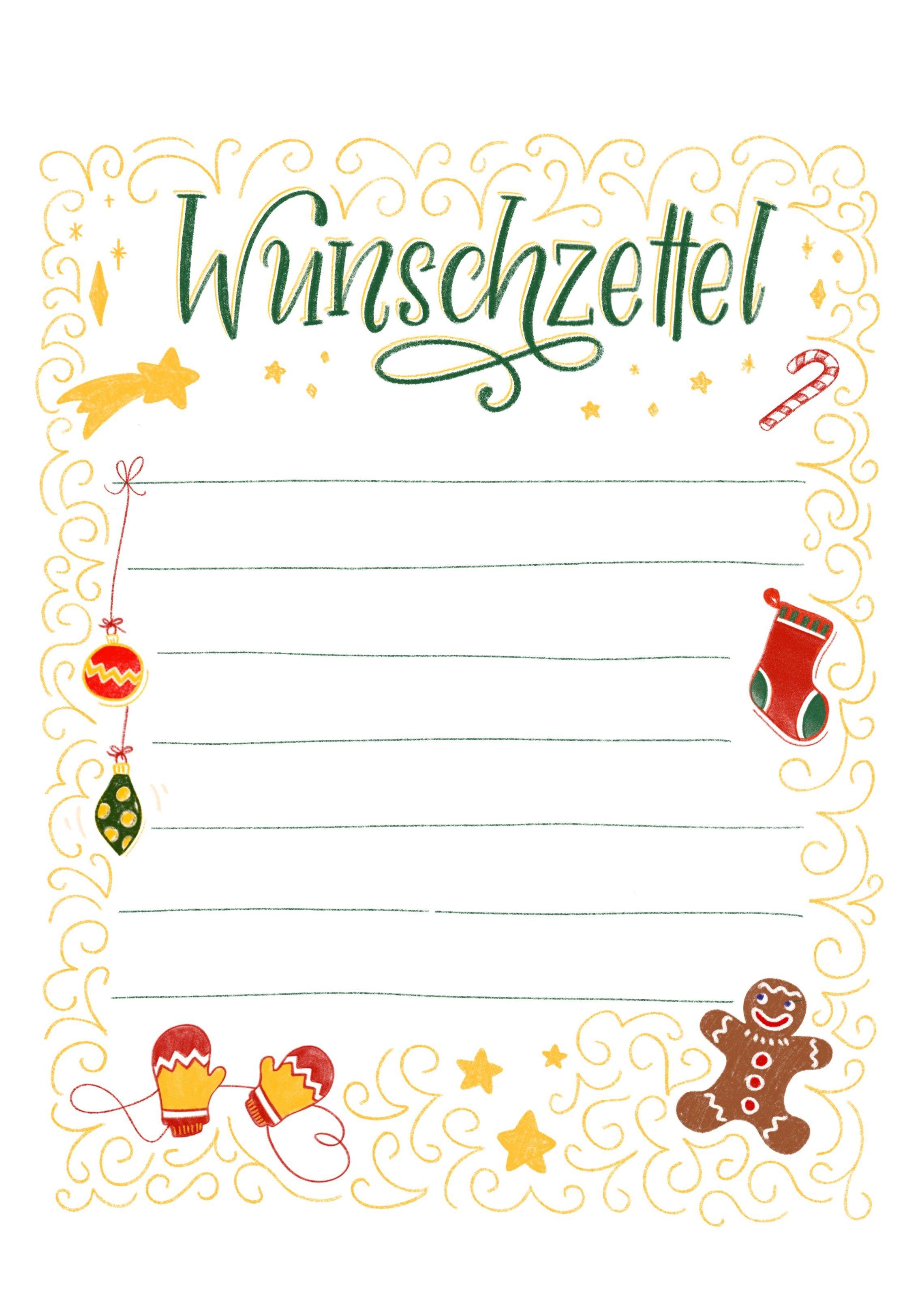 Wunschzettel Vorlage Zum Ausdrucken Bunte Galerie Wunschliste Weihnachten Weihnachtskarte Grusse Weihnachtskarten Zum Ausdrucken