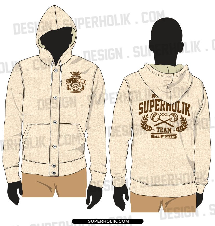 Button down hoodie template | Fashion Vector Templates | Pinterest