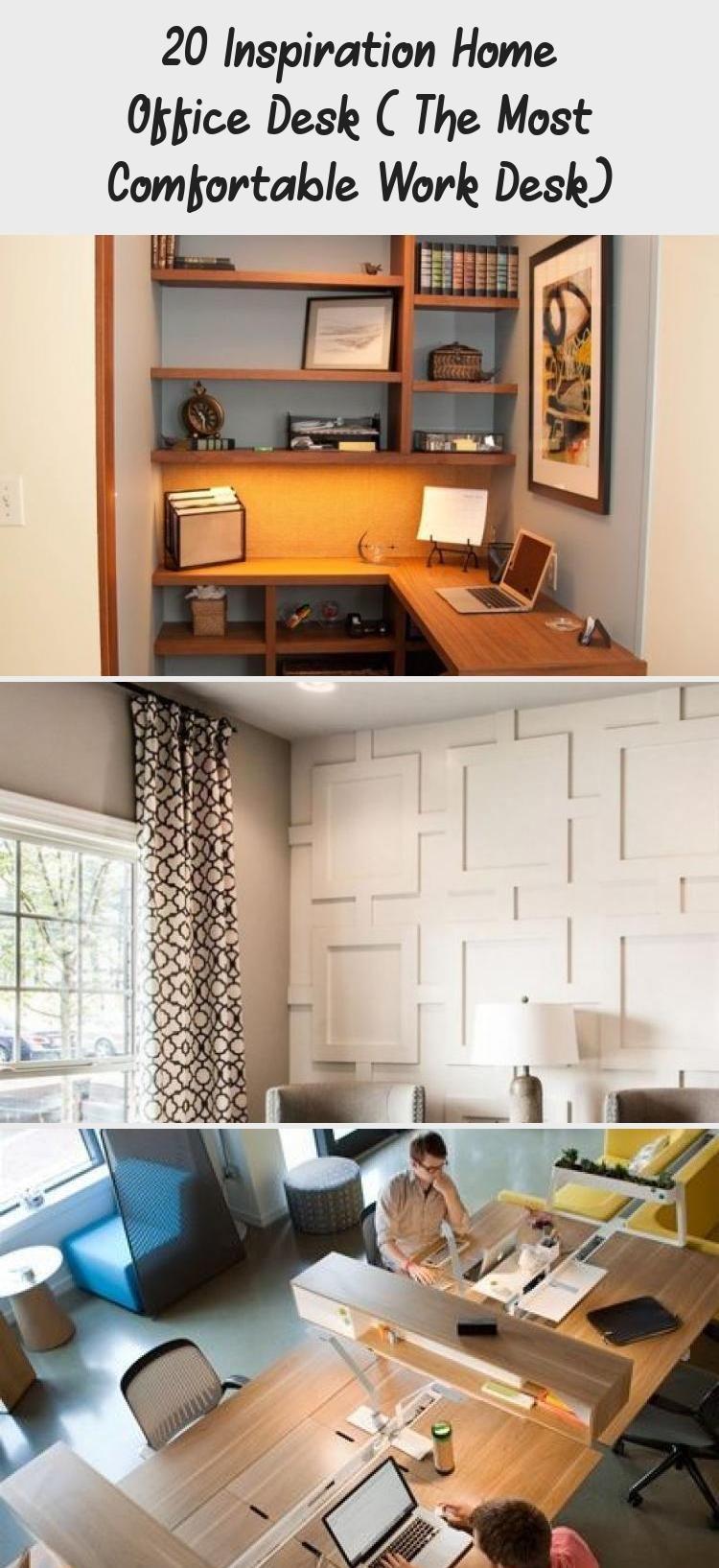 20 Inspiration Home Office Desk The Most Comfortable Work Desk In 2020 Shabby Chic Office Desk Minimalist Desk Design Apartment Decor
