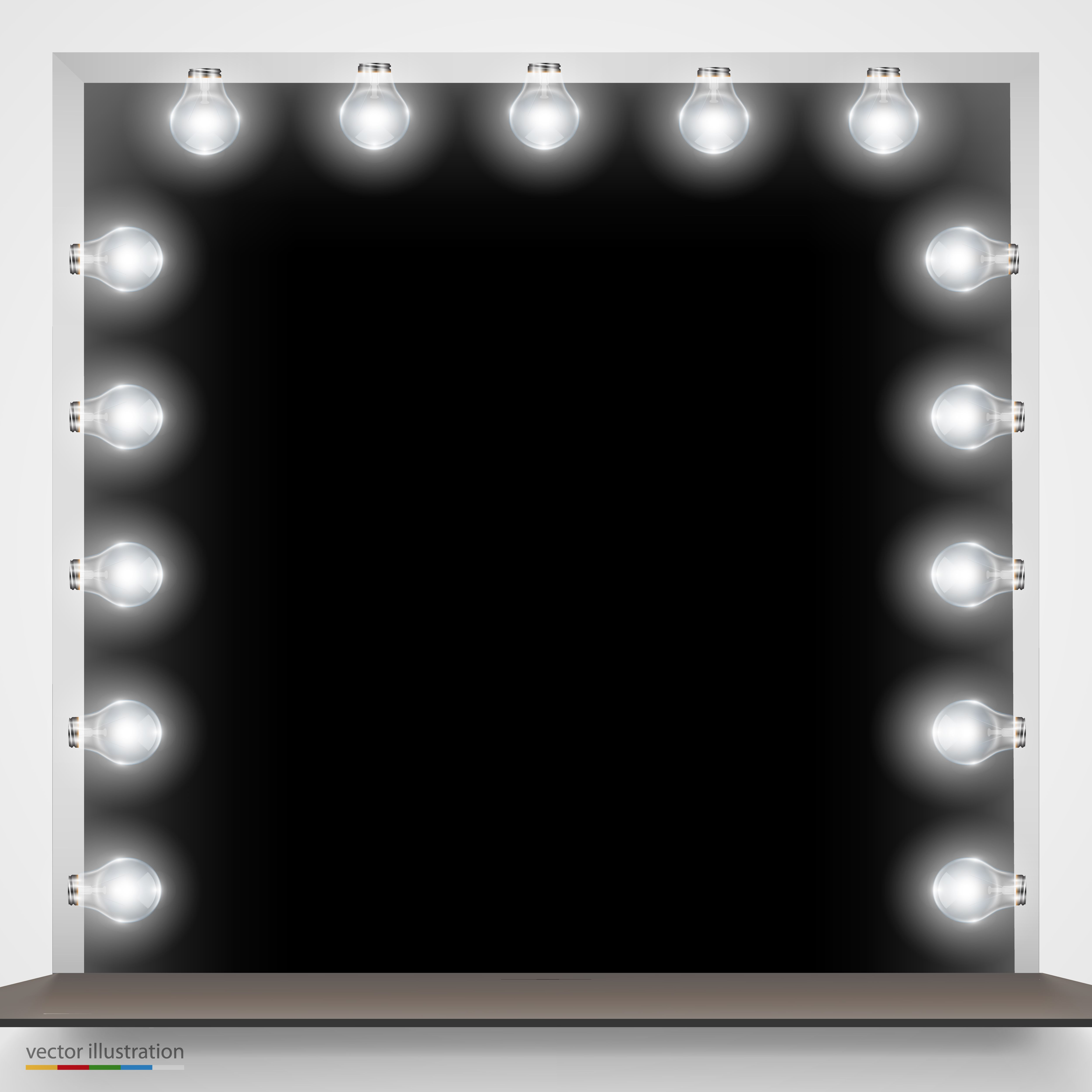10x10  Mirror with Bulbs