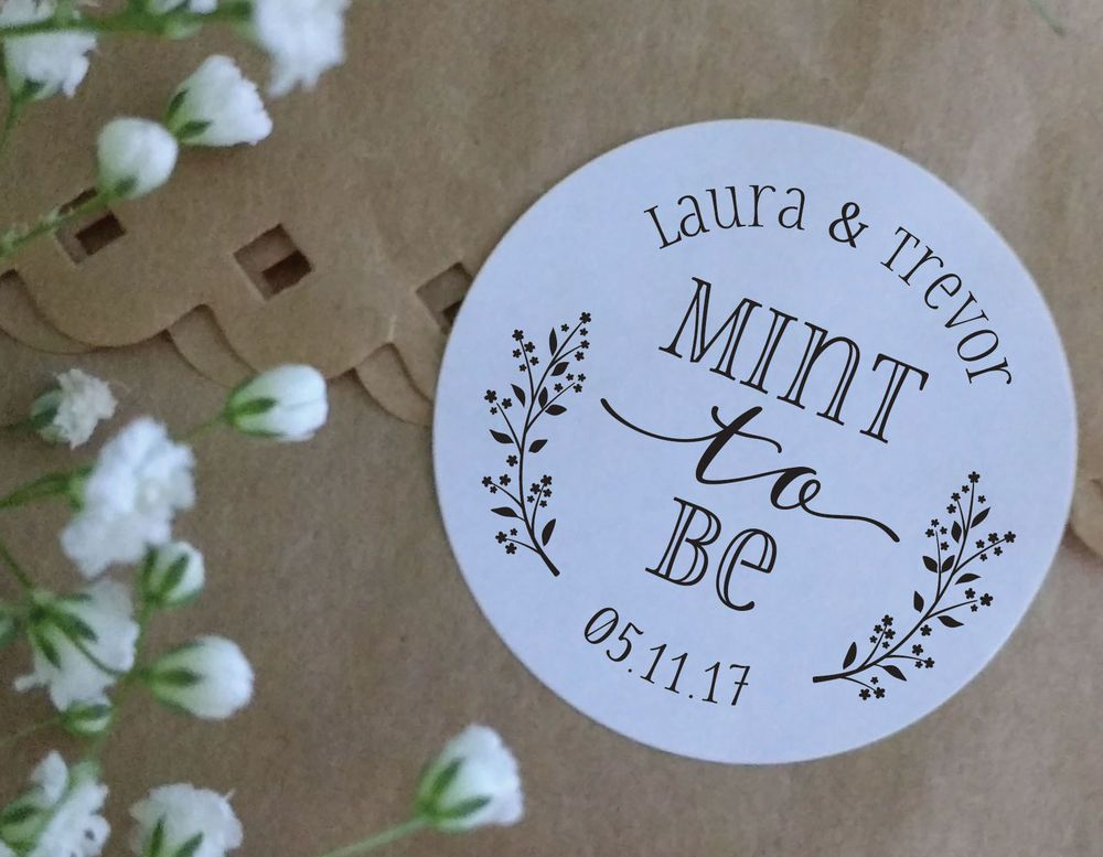 Mint to be sweet bags cone wedding stickers personalised love hearts favours s11 in home furniture diy wedding supplies wedding favours ebay